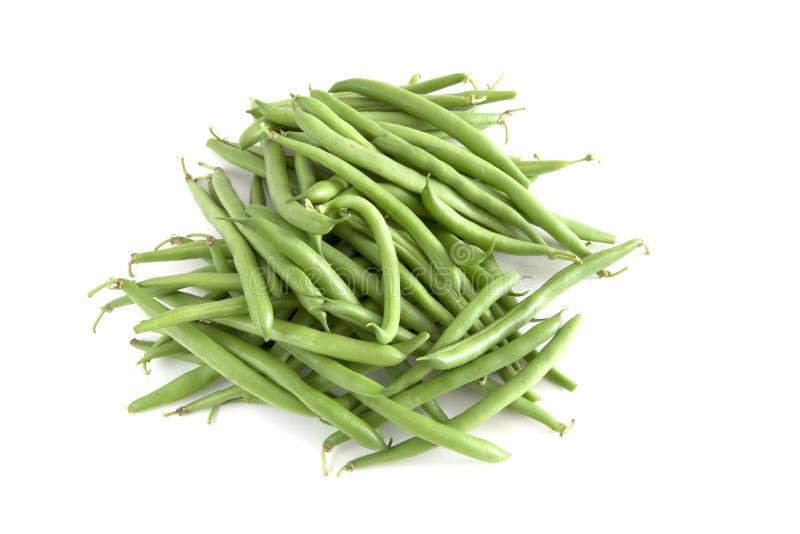 Organische grüne Bohnen stockfotos