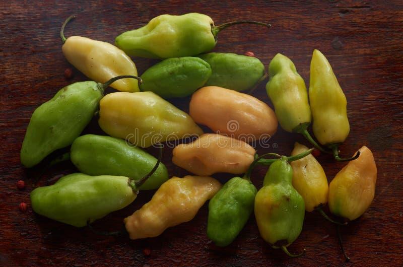 Organische Groene paprika's stock foto's