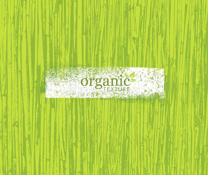 Organische het Bamboeachtergrond van Aard Vriendschappelijke Eco Bio Vectortextuur stock illustratie