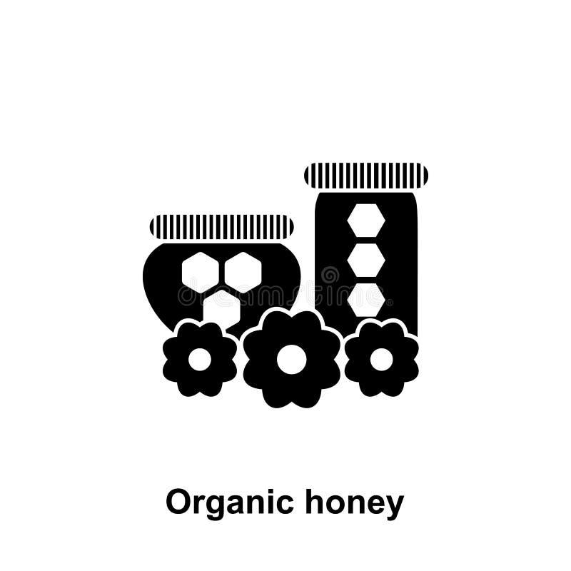 organische honing in kruikenpictogram Element van imkerijpictogram Grafisch het ontwerppictogram van de premiekwaliteit Tekens en royalty-vrije illustratie
