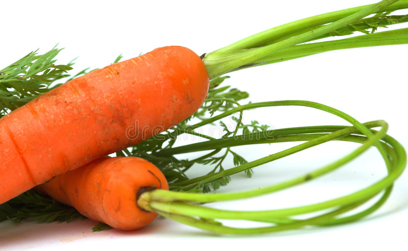 Organische Karotten lizenzfreie stockfotos