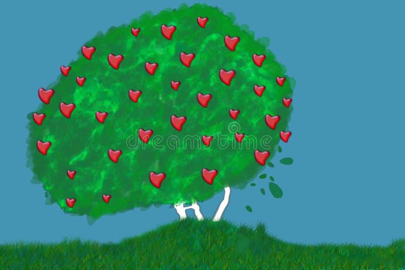 Organische liefde vector illustratie