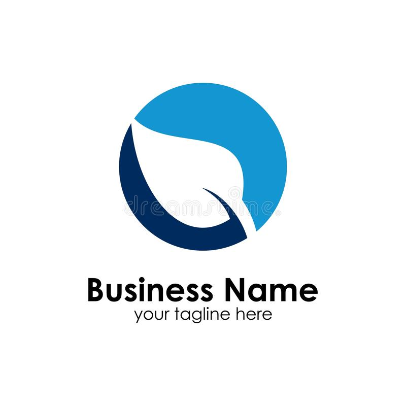 Organische Logoschablone, Ikone, blau lizenzfreie abbildung