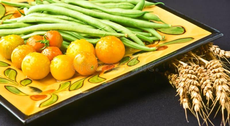 Organische, lokale de groentenvertoning van Autumn Oktoberfest stock afbeelding
