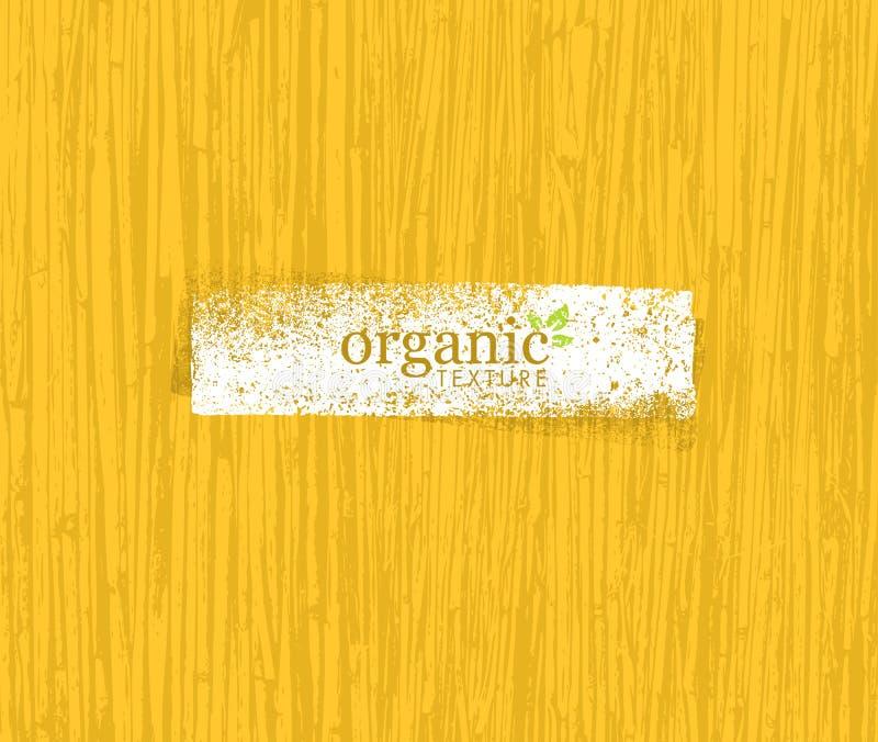 Organische Natur freundlicher Eco-Bambus-Hintergrund Biovektor-Beschaffenheit lizenzfreie abbildung