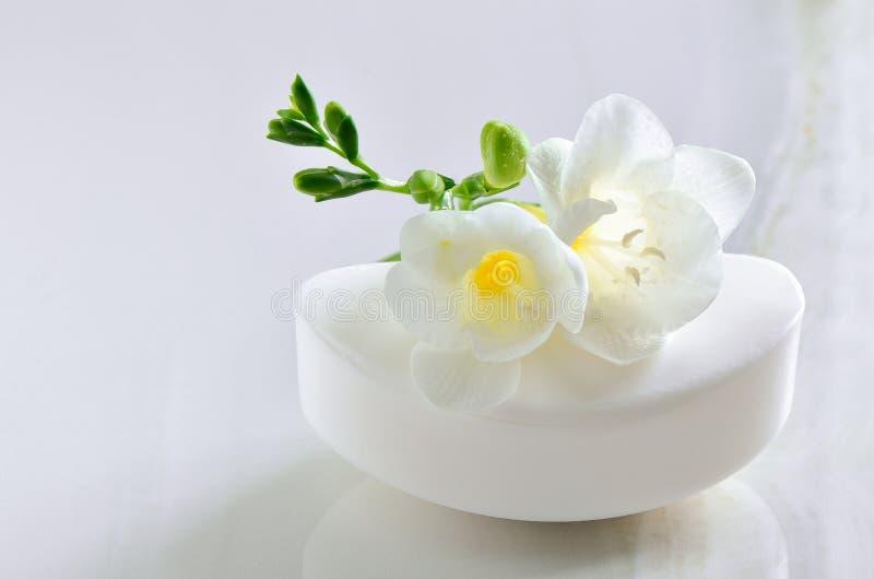 Organische natuurlijke zeep stock afbeelding