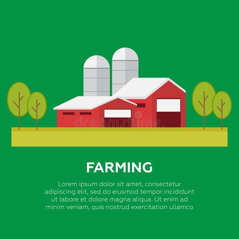 Organische producten Landbouw en de Landbouw Biologische producten vect royalty-vrije stock afbeelding