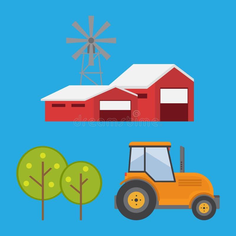 Organische producten Landbouw en de Landbouw Landbouwindustrie Landelijk La royalty-vrije stock foto's