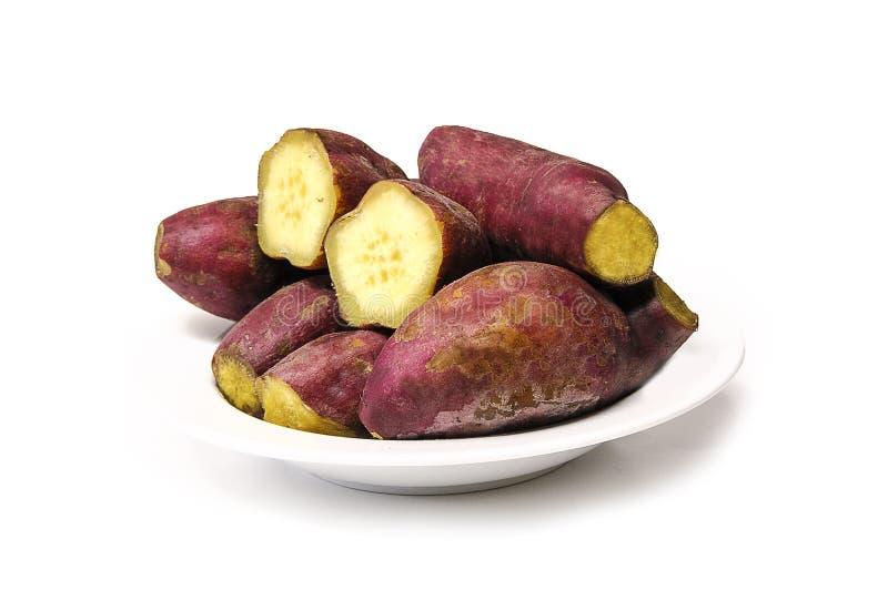 Organische süße Kartoffeln stockbild