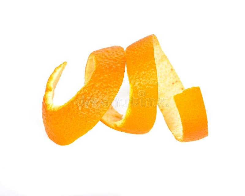 Organische sinaasappelschil royalty-vrije stock afbeeldingen