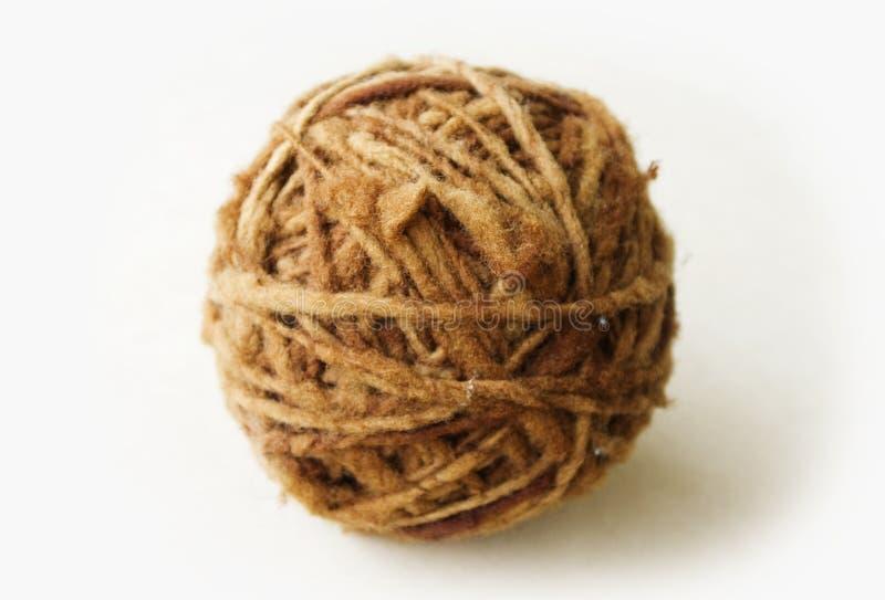 Organische streng van natuurlijke wol royalty-vrije stock afbeeldingen