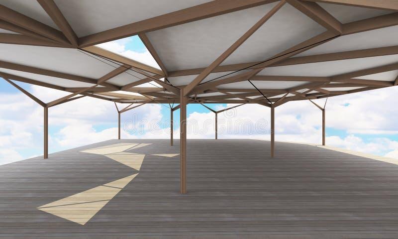 Organische structuur, open plekarchitectuur royalty-vrije illustratie