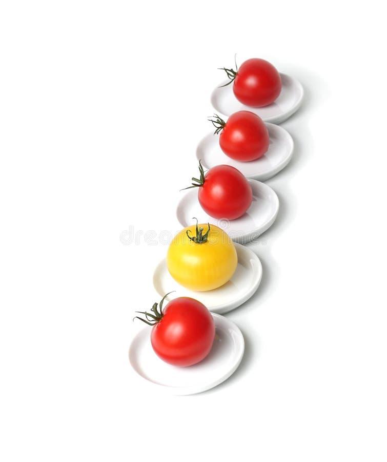 Organische Tomate der Traube fünf stockfotos