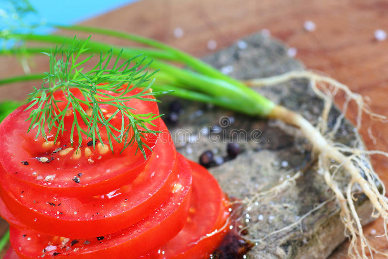 Organische Tomaten lizenzfreie stockbilder