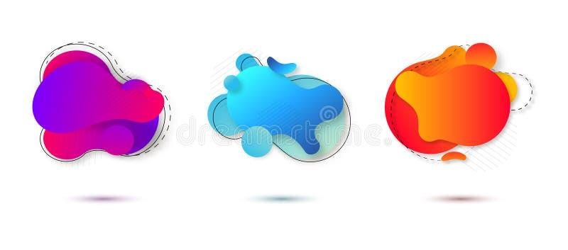 Organische vloeibare abstracte vorm op de witte achtergrond Vloeibare gradi?ntelementen voor uw ontwerp Vector illustratie vector illustratie