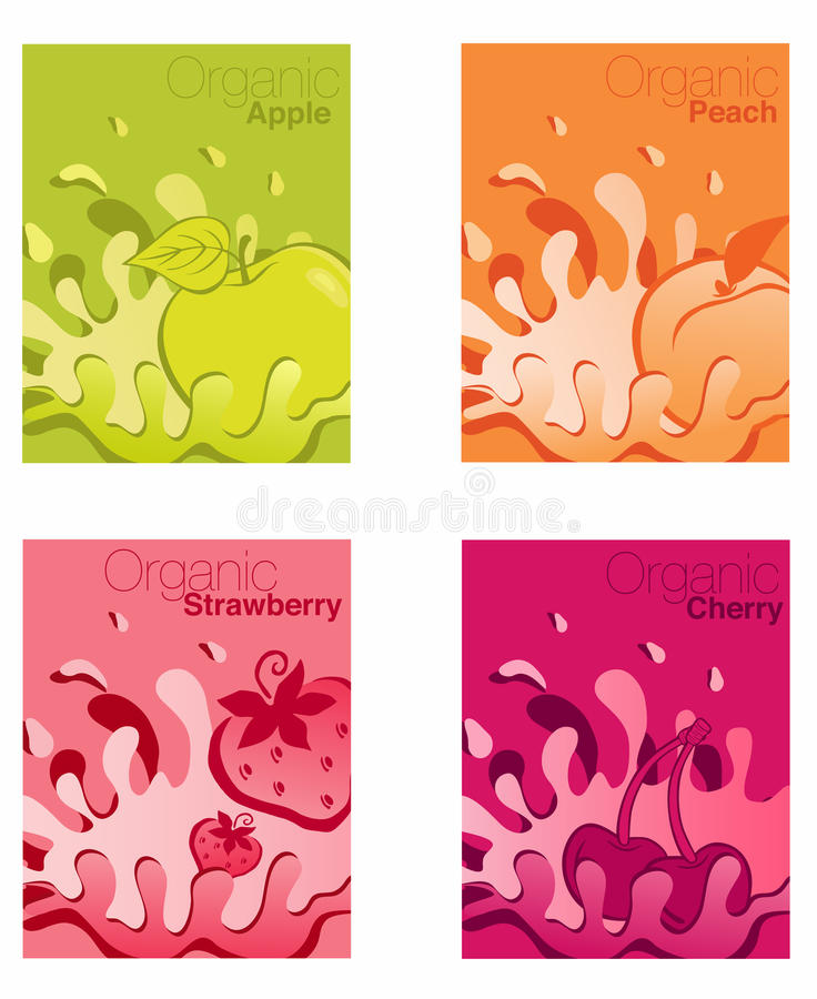 Organischer Fruchtjoghurt stock abbildung