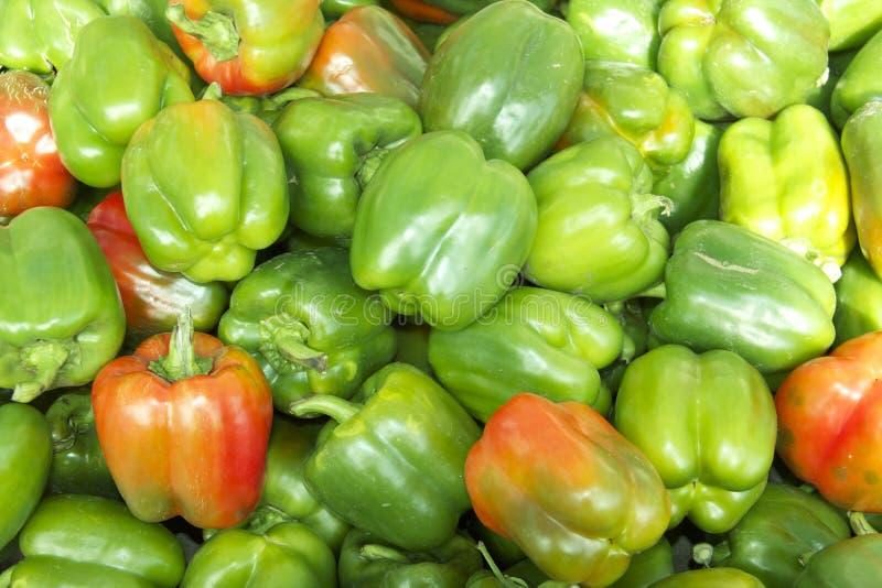 Organischer grüner Grüner Pfeffer lizenzfreie stockbilder