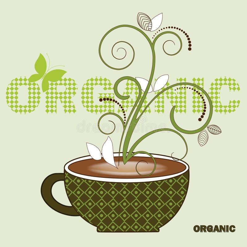 Organischer Kaffee lizenzfreie abbildung