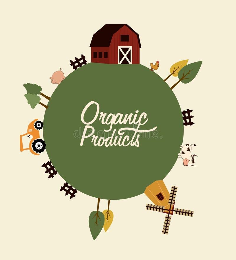 Organischer Produktkennsatz stock abbildung