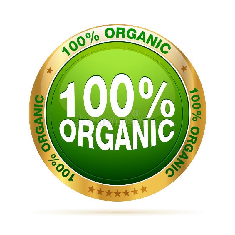 organisches Abzeichen von 100 Prozent vektor abbildung