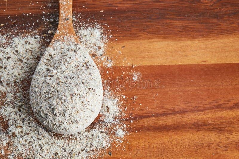 Organisches Buchweizen-Mehl stockbilder