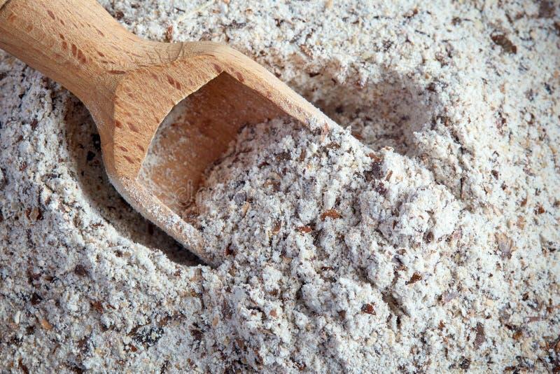 Organisches Buchweizen-Mehl lizenzfreie stockfotos