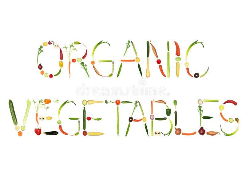 Organisches Gemüse lizenzfreie abbildung