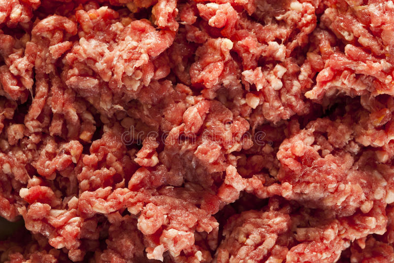 Organisches rohes Gras Fed Ground Beef lizenzfreies stockfoto