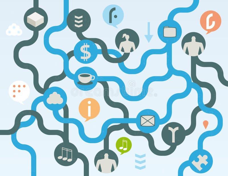 Organisches Social Media-Konzept vektor abbildung