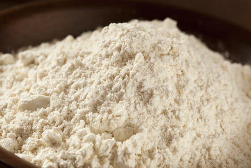 Organisches Vollweizen-Mehl stockbilder