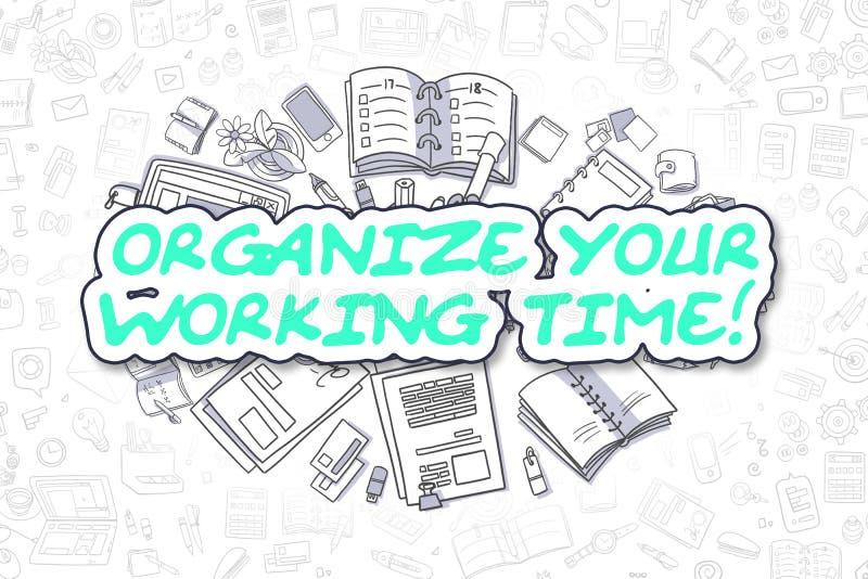 Organisez votre temps de travail - concept d'affaires illustration libre de droits