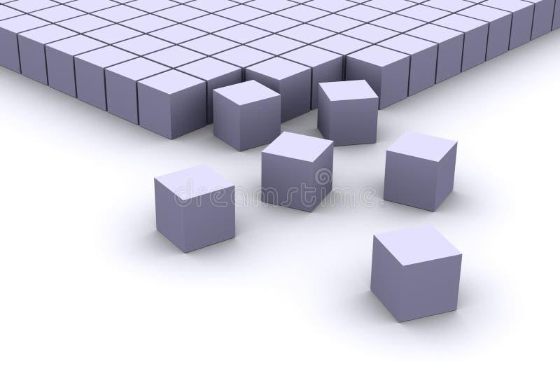 Organisierende Würfel lizenzfreie abbildung