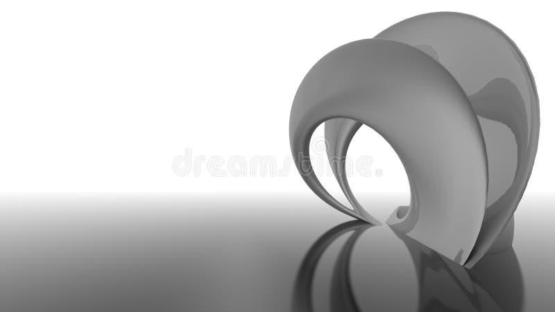 Organisk abstrakt futuristic arkitektur formar royaltyfri illustrationer