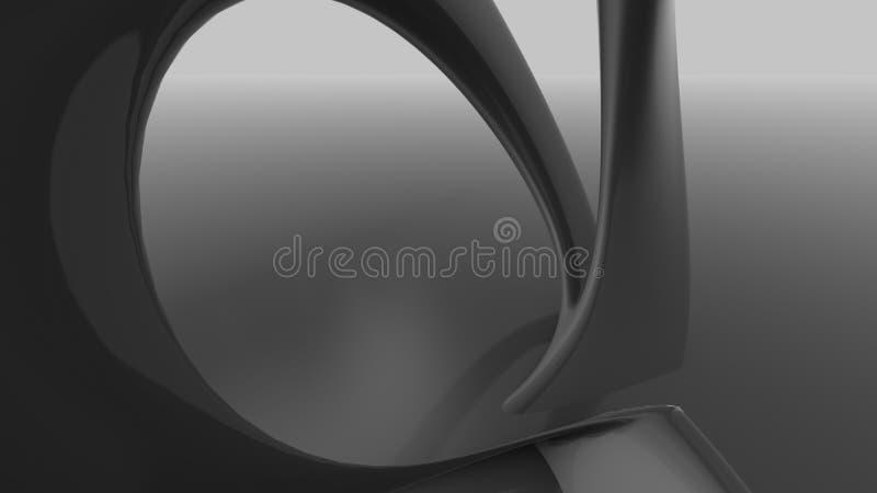 Organisk abstrakt futuristic arkitektur formar vektor illustrationer