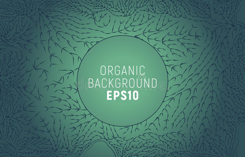 Organisk linje modell Minsta bakgrund för trädfilial Naturgarnering stock illustrationer