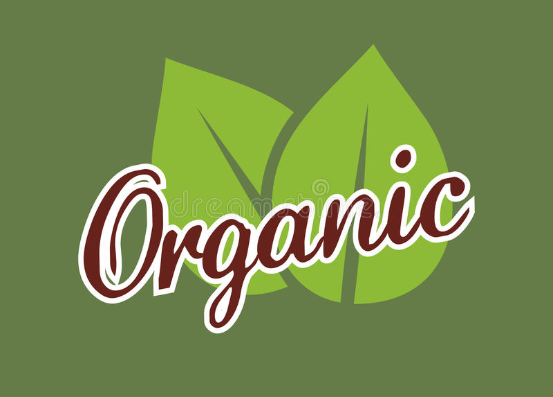 Organisk livsmedelsprodukt stock illustrationer