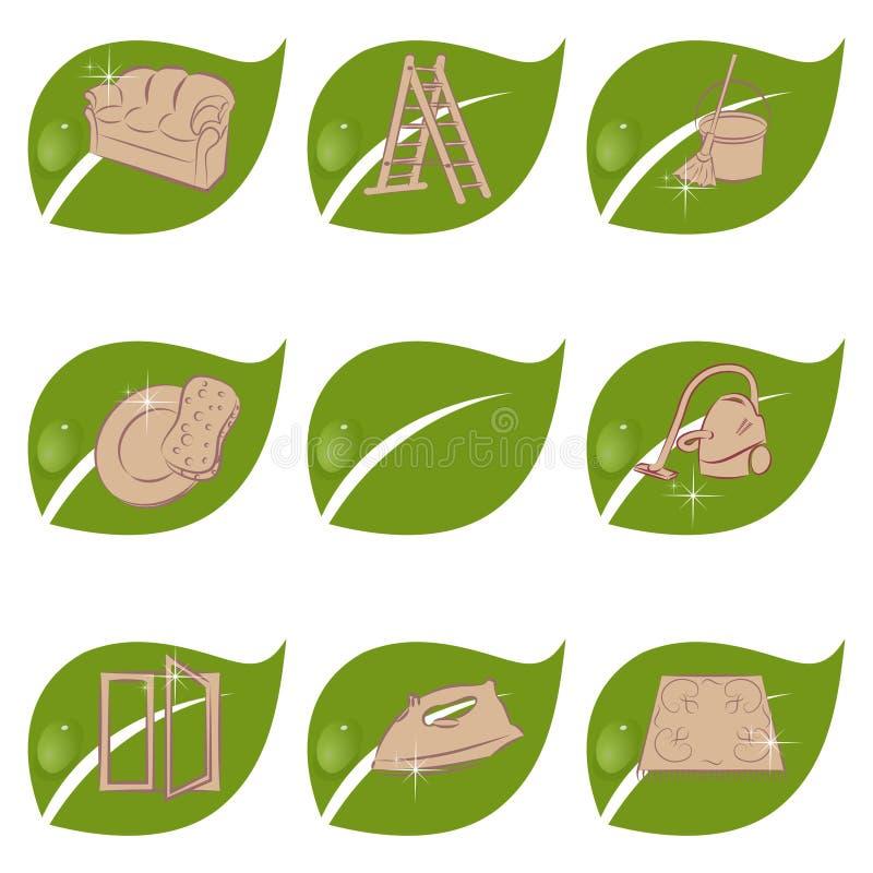 Organisk lokalvård stock illustrationer