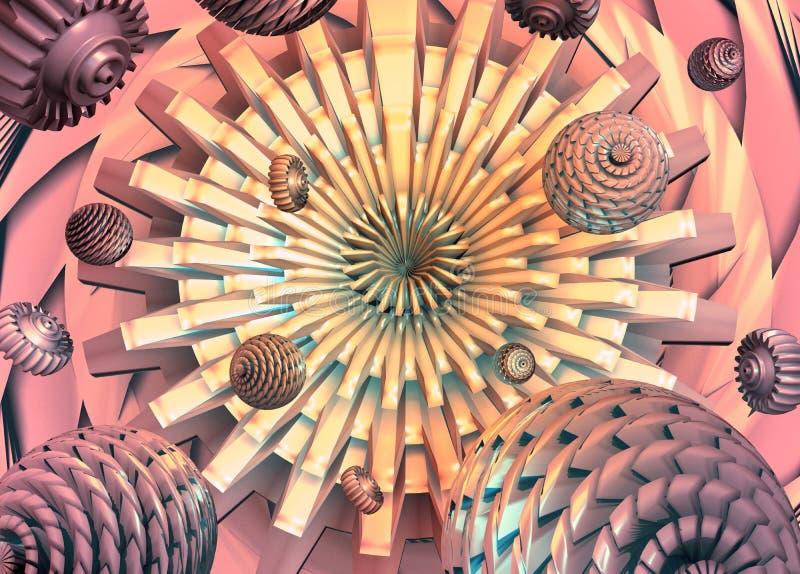 organisk maskin vektor illustrationer