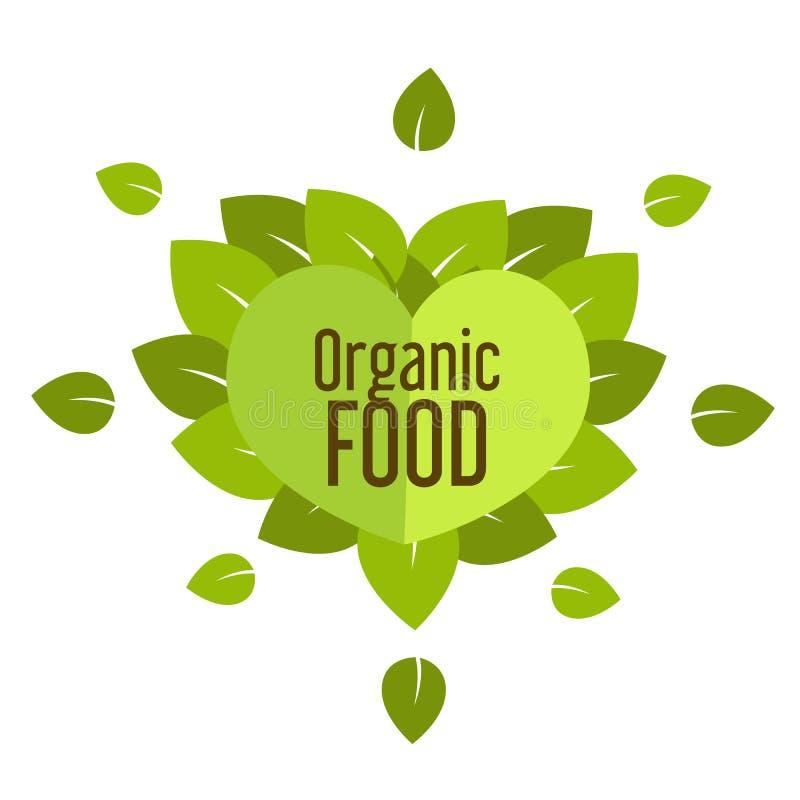 Organisk mat stock illustrationer