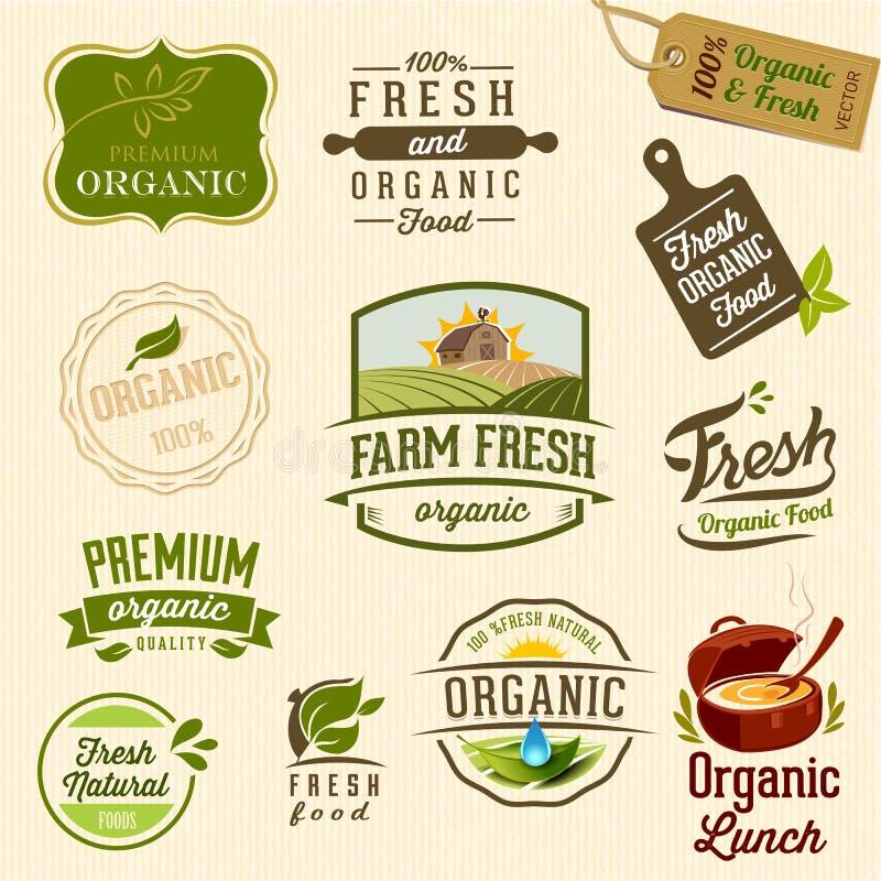 Organisk mat - illustration vektor illustrationer