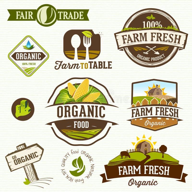 Organisk mat - illustration stock illustrationer