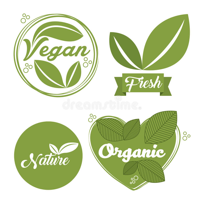 organisk och naturlig design stock illustrationer
