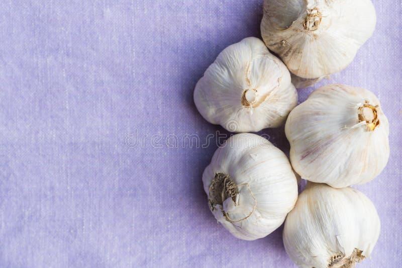 Organisk vitlök, rengöring som äter begrepp royaltyfri foto