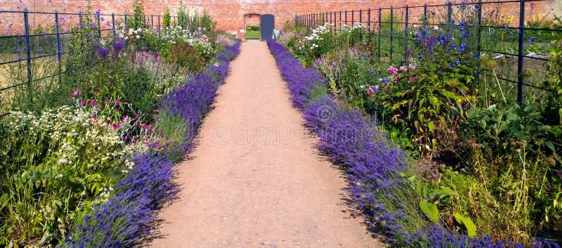 Organisk Walled trädgård arkivfoton