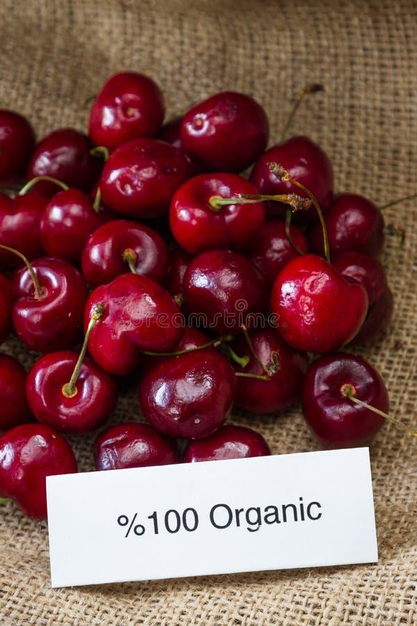 organiska Cherry arkivbild