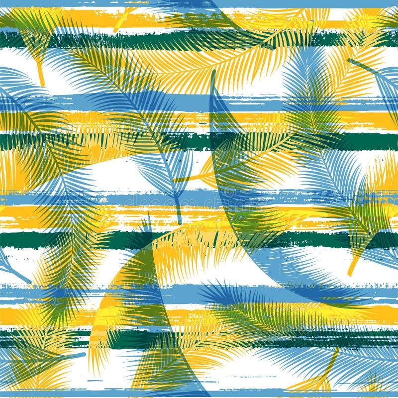 Organiska filialer för kokosnötpalmbladträd över stock illustrationer