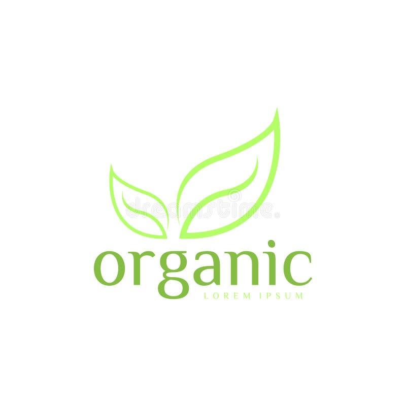 Organiska Logo Vector Art mall Affär royaltyfri foto