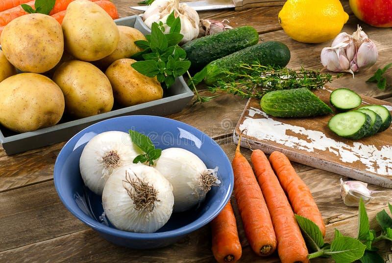 organiska rå grönsaker royaltyfria foton