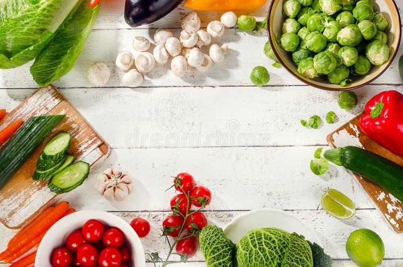 organiska rå grönsaker royaltyfri fotografi