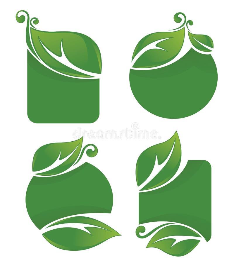 Organiska ramar och former stock illustrationer